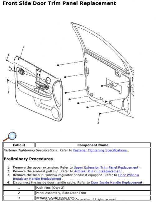 Replacing Door Exterior Door Handles Chevy Cobalt Forum