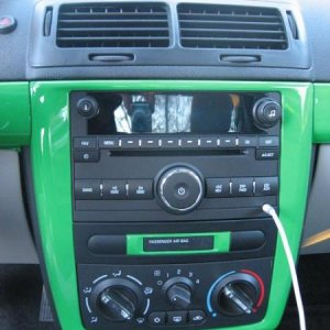 CD Bezel Painted (lime green/flat black)