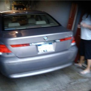 dad's new bmw 745 i