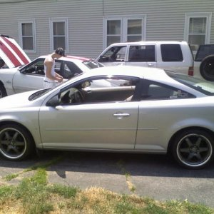 Here is the car on July 4th, For the New England Summer Nationals.  Motegi 17's wrapped in General Exclaim UHP Rubbers.