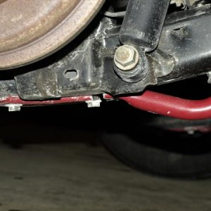 busted sway bar on car