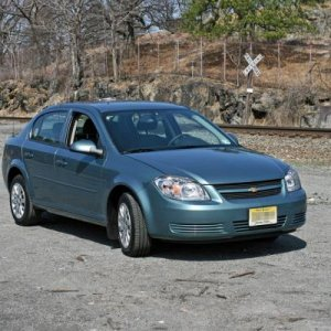 My 2010 Cobalt LT Sedan at Iona Island, NY. If you look hard, you can see my scanner antenna on the roof.