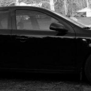 Side shot of my Balt in Black and White