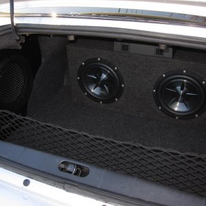 Clarion 10 inch subs with Kenwood Amp plus factory Pioneer 10 in sub
